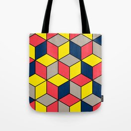 Geometric Abstract Design Pattern Tote Bag