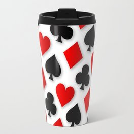 Playing Card Suits Collage Travel Mug