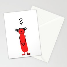 Questioning girl Stationery Cards