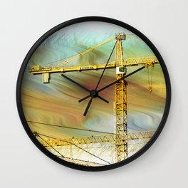 Building crane Wall Clock