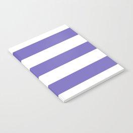 Blue-violet (Crayola) - solid color - white stripes pattern Notebook