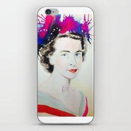 Watercolour Poster Print Mag Zeben Art Queen Elisabeth iPhone Skin