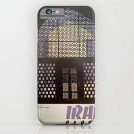 altes Plakat Iran Persia Masjid-I-Shah Isfahan Oratory iPhone Case