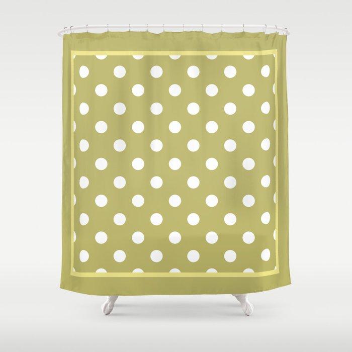 Khaki Polka Dots Palm Beach Preppy Shower Curtain by cafepretzel ...