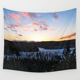 Algonquin Winter Sunset Wall Tapestry