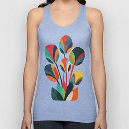 Ikebana - Geometric flower Unisex Tank Top