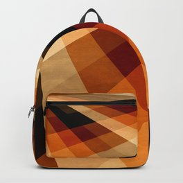 Autumn Groovy Checkerboard Backpack