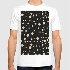 Modern stylish black pastel amulet yellow hipster polka dots SMALL White Mens Fitted Tee