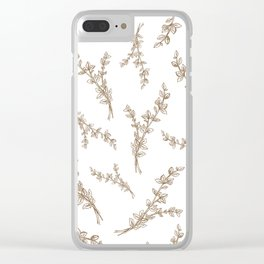 gold thyme in pattern Clear iPhone Case
