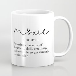 Moxie Definition - Minimalist Black Coffee Mug