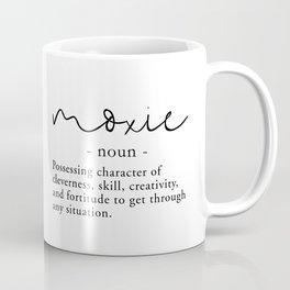 Moxie Definition - Minimalist Black Coffee Mug