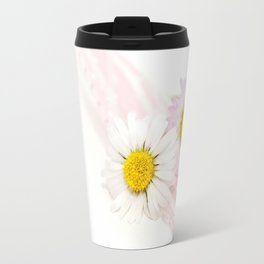 Spring Flowers White and Pink Travel Mug