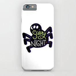 Happy Halloween Scary Night Spider iPhone Case