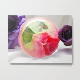 Pink Purple Floral Rose Fine Art Photography Pink Roses Metal Print