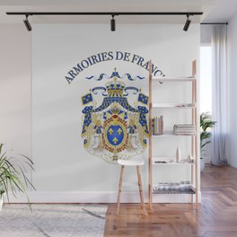 Armoiries de France | France | |french war badge Wall Mural