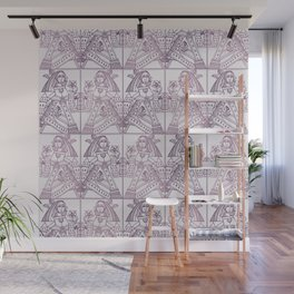 Ladies Only - Mid Century Modern Pale Mauve Wall Mural