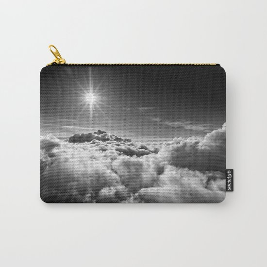 Clouds Black & White Carry-All Pouch