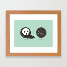 Cookies and Scream Framed Art Print