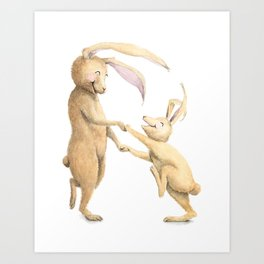 R is for Rabbits! Letters from the Laugh-A-Bit Alphabet by BirdsflyOver ABC Nursery Art Art Print
