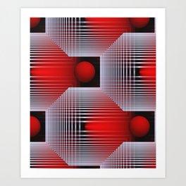 3D - abstraction -50- Art Print