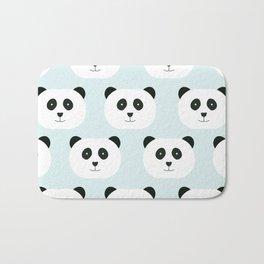 Panda Love- Mint Blue Bath Mat