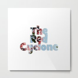The Red Cyclone Metal Print