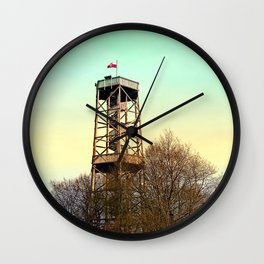 Observation tower in vivid colors | architectural photography Wall Clock