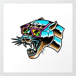 Chrome panther Art Print