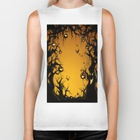 scary Biker Tanks featuring SCARY HALLOWEEN by Acus