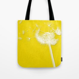 Freesia Yellow Dandelion Tote Bag