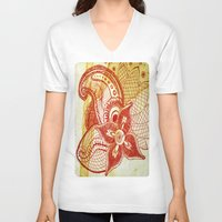rare V-neck T-shirts featuring Rare Bloom by SecondLevelPrints