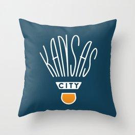 Kansas City Shuttlecock Type - White Throw Pillow