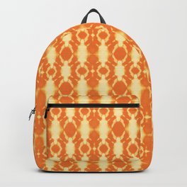 rotary tie-dye pattern in sunny yellows Backpack