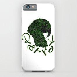 Cubism Parrot V Green iPhone Case