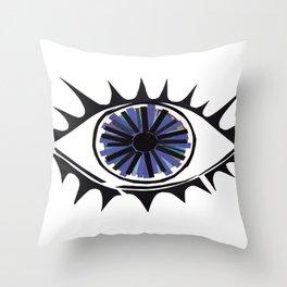 Blue Eye Warding Off Evil Throw Pillow