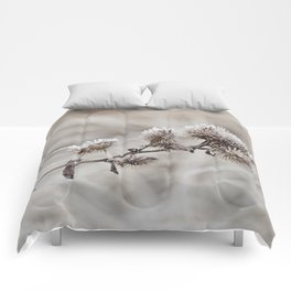 Early frost winter still life Comforters