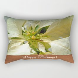 Pale Yellow Poinsettia 1 Happy Holidays S1F1 Rectangular Pillow