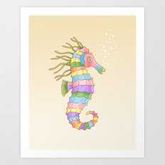 Crayon Ponyfish Art Print