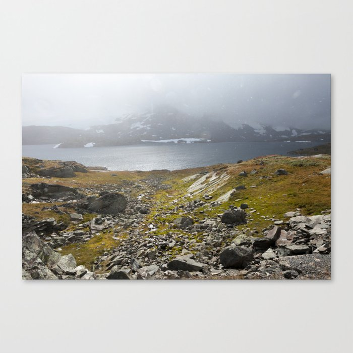 A Mountains Wind & Hail (Norway) Canvas Print