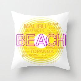 Southern California Beaches Throw Pillow