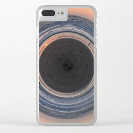 Sunset Cycle Clear iPhone Case