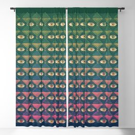 H. P. LOVECRAFT'S EYES Blackout Curtain