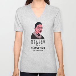 Ruth Bader Ginsburg May Her Memory be a Revolution Unisex V-Neck