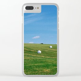 White Bales Clear iPhone Case