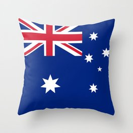 The National flag of Australia, authentic version (color & scale 1:2) Throw Pillow