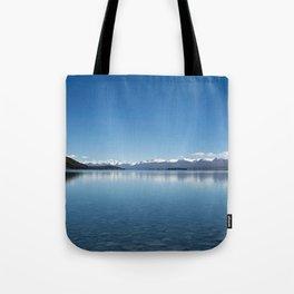 Blue line landscape Tote Bag