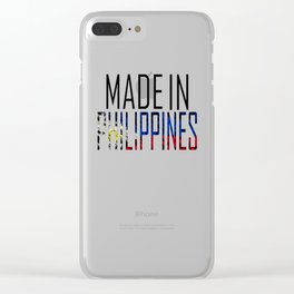 Made In Philippines Clear iPhone Case