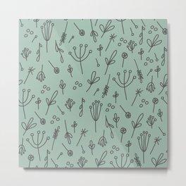 Dandelion Fields (sage) Metal Print