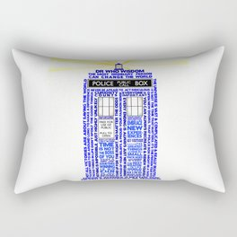 Doctor Who TARDIS Words of Wisdom Rectangular Pillow