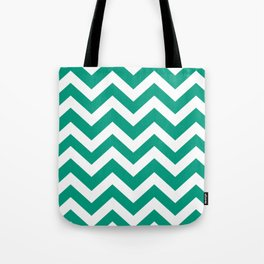 Paolo Veronese green - green color - Zigzag Chevron Pattern Tote Bag